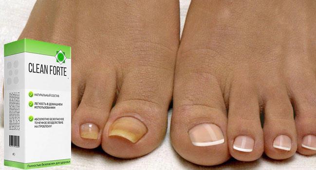 Clean Forte от грибка ногтей и стоп состав