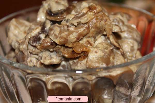 Рецепт грибов в сметане для мультиварки