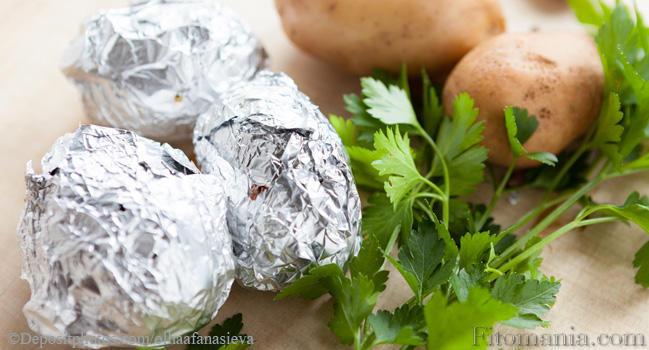 Как запечь картошку в духовке калорийность