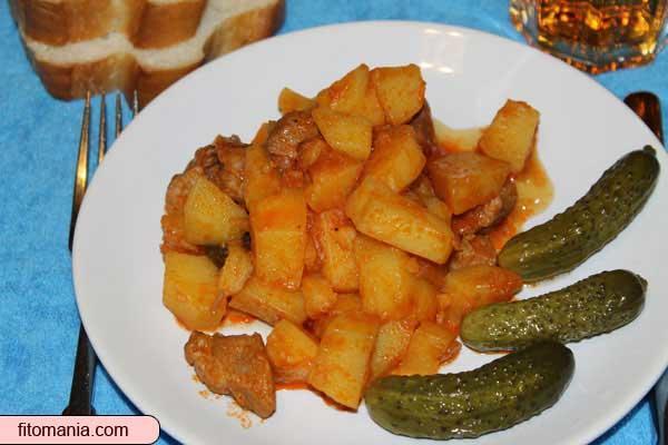 Рецепт тушёной картошки в мультиварке