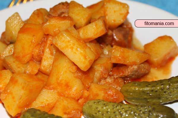 Картошка деревенская - рецепт для мультиварки