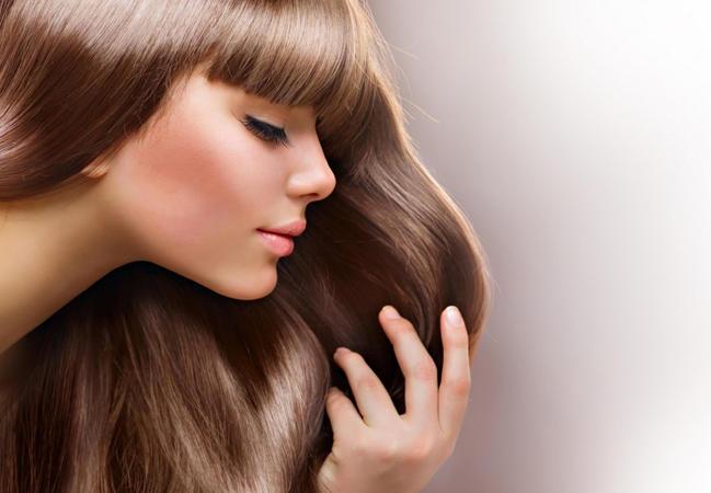 Добиться блеска волос домашних условиях 580