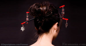 Как сделать прическу с китайскими палочками ракушка